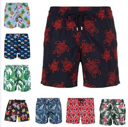 Green Bermuda Shorts Australia - sell best top swimwear Bermuda Surf Beach Shorts green Quick Dry Beach Short Pants for men sexy loose fit swimming trunks drop shipping