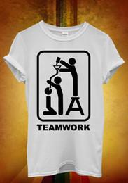 $enCountryForm.capitalKeyWord NZ - Team Work Beer Bong Funnel Pipe Men Women Unisex T Shirt Tank Top Vest 688 Funny free shipping Unisex Casual Tshirt top