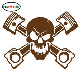 $enCountryForm.capitalKeyWord Australia - HotMeiNi Car Sticker Car Styling Skull Window Bumper Decal Truck Fridge Wall Cross Bones Jolly Pirate Racing 15*12 cm