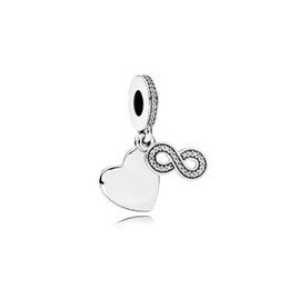 Fashion Love Charm UK - NEW 100% 925 Sterling Silver 1:1 791948CZ FOREVER FRIENDS HANGING CHARM Original Women Wedding Fashion Jewelry