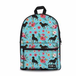 Customized Bags Australia - Customized Women Casual Daypack Shoulder Bags for Girls Bookbag School Backpack Female Rottweiler Dog Printing Laptop Rucksack