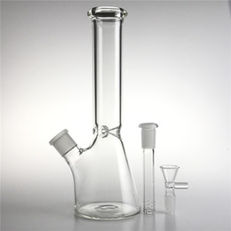 Beaker Bong Bowl Australia - New 10 Inch Glass Bong Water Pipes with 14mm Bowl Downstem Thick Heady Glass Beaker Recycler Straight Bongs for Smoking