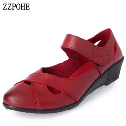 $enCountryForm.capitalKeyWord NZ - Zzpohe 2018 Summer Shoes Women Leather Casual Wedges Shoes Sandals Women's Open Toe Pumps Mother Comfortable Sandals Y19070303