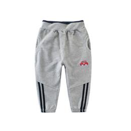 $enCountryForm.capitalKeyWord NZ - Fashion Sports Girls Boys Pants White Striped Candy Color School Cotton Spring Autumn Pant Leggings Trouser Children Kid Leggins