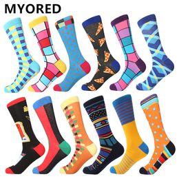 $enCountryForm.capitalKeyWord Australia - MYORED 12pairs Lot calcetines de hombres de un colored socks men cartoon crew socks for party christmas holiday gift