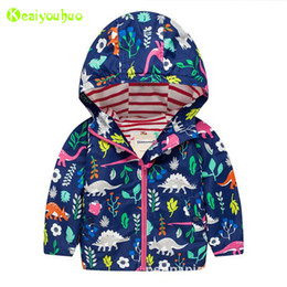 Boys Dinosaur Jacket Australia - Baby Boys Windbreaker For Girls Jacket 2018 Autumn Spring Dinosaurs Jackets For Boys Jacket Kids Outerwear Coat Children Clothes