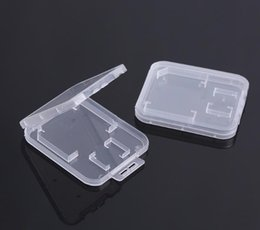 $enCountryForm.capitalKeyWord Australia - Small Transparent Plastic Protect Standard Memory Card Holder Storage Case Box for SD TF MMC SIM Memory Card