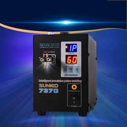 Estação de solda bateria KNOKOO 737G Precision Inteligente pulso ponto Welder precisa Micro-computador para soldadura de aço inoxidável Ferro em Promoção