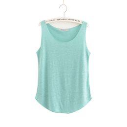$enCountryForm.capitalKeyWord UK - Shirt T Women Summer Tank Top 100% Cotton 2019 Classic Style Multi-colors Sleeveless Tops Female Black Blue Breathable