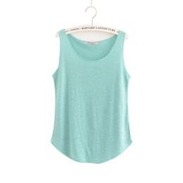 $enCountryForm.capitalKeyWord UK - Women Shirt T Summer Tank Top 100% Cotton 2019 Classic Style Multi-colors Sleeveless Tops Female Black Blue Breathable