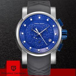 $enCountryForm.capitalKeyWord Australia - PAGANI DESIGN Brand Men Watches Luxury Chronograph Calendar 30M Waterproof Silicone Fashion Quartz Men Watch Relogio