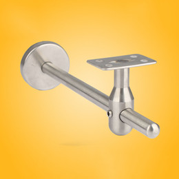 stainless steel handrail NZ - Stainless steel bracket combination glass Guardrail wall Support frame handrail bracket stairs fixing bracket stair hardware household