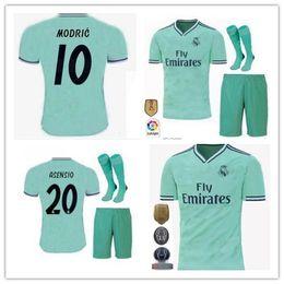 2019/20 Real Madrid terceiro Soccer Jersey verde NOVA camisa de futebol # 20 ASENSIO ISCO MARCELO madrid 19 20 uniformes de Futebol tamanho S-2XL