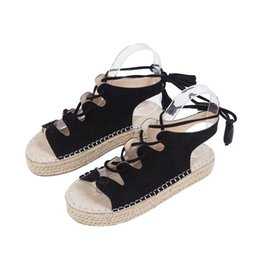 $enCountryForm.capitalKeyWord NZ - AARDIMI Plus Size 35-43 Solid Lace Up Sandals Women Flat Platform Shoes Sandals Height Increasing Women's Creepers