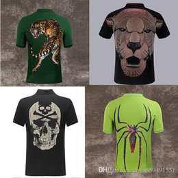 men pp clothing NZ - HOT PP Polo shirts brand tiger Men fashion designer clothing short sleeve calssic skull luxury t-shirt High Quality Casual tee M-3XL