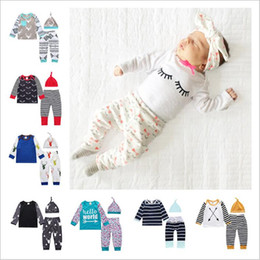 $enCountryForm.capitalKeyWord Australia - Kids Clothes Baby Floral Suits Girls Ins Clothing Sets Letter Boutique Tops Pants Hats Outfits Animal Print Fashion T Shirts Pants Cap A4357