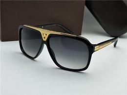 $enCountryForm.capitalKeyWord Australia - Luxury Evidence Millionaire Sunglasses Smoke Black Gold Vintage Sunglass Men brand designer sunglasses new with box