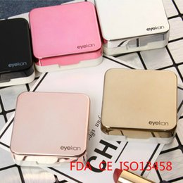 Kit Boxes Australia - 10pcs 2018 Case With Mirror Women Colored Lenses Eyes Contact Lens Container Lovely Travel Kit Box C19041201