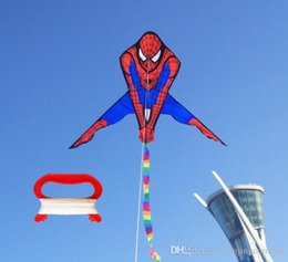 toy kites NZ - high quality spiderman kite with kite reel rainbow tails kids kites flying toys aquilone cartoon kite