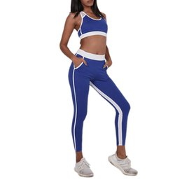 0b138dae8da Women Yoga Sets Quick Dry Tracksuit Sports Suit With Pocket Female Fitness  Bra Elastic Workout Leggings Gym Clothing 2 Piece Set  918287