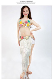 Discount indian bollywood costumes - Belly Dance Costume Set Bra + SKIRT Indian Bollywood Bohemia Bellydance Performance 2piece