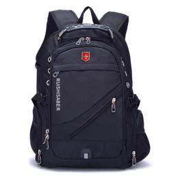 $enCountryForm.capitalKeyWord NZ - New Oxford Swiss Backpack USB charging 17 Inch Laptop Men Waterproof Travel Rucksack Female Vintage School Bag bagpack mochila