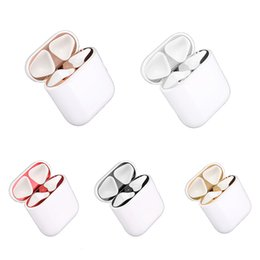 House Plates Australia - SZAICHGSI For AirPods Dust Guard Plating Metal Ultra-Thin Skin Earbud Accessory for Apple Airpods Earphone Case Charging Box Housing Shell