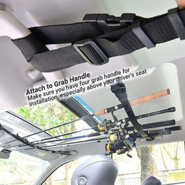 snap straps Australia - 1 Pair Vehicular Fishing Rod Saver Vehicle Rod Carrier Band Holder Belt Strap With snap buckle easy to placed