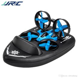 shipping models Canada - JJRC H36F Mini RC Drone Aircraft Toy, Quadcopter, Air Cushion Ship& Hovercraft, 3 Models of Sea, Land and Air, Xmas Kid Birthday Gift, 2-2