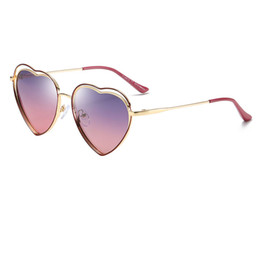 Frames Love Australia - High quality fashion boy girl sunglasses kids love gold frame sunglasses kids heart marine mirror awning children beach sunglasses send box