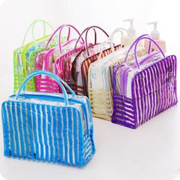 $enCountryForm.capitalKeyWord Australia - Transparent Cosmetic Bags Travel Waterproof PVC Clear Wash Bath Organizer Pouch Beauty Zipper Makeup Case Beach Tote Bags