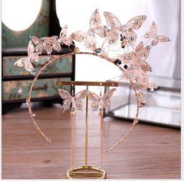 $enCountryForm.capitalKeyWord Australia - Crystal Smart Butterfly Crown Bride Hair Hoop Jewelry Wedding Dresses with Headwear
