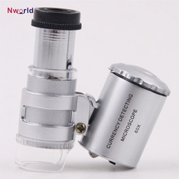 $enCountryForm.capitalKeyWord Australia - Handheld 60X Jeweler Loupe Mini Magnifiers Microscope with LED Light Jewelry magnifying glass magnifier Jewelry Loupes Free Shipping
