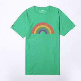 $enCountryForm.capitalKeyWord UK - 2018 Vogue Women Girl's Rainbow Printed Tshirts Summer Short Sleeved Harajuku Cotton Quality Tops Oversize Tumblr T shirt