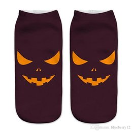 $enCountryForm.capitalKeyWord UK - Free Size 3d Printed Halloween Socks For Women Nice Pop Cartoon Knitted Cotton Socks 12 Patterns