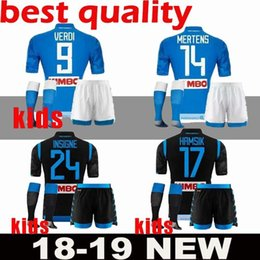 0c564dc7a kids kits 2019 Napoli Soccer Jersey 18 19 Naples home Away Soccer Shirt  2018 Customized  14 MERTENS  17 HAMSIK  24 INSIGNE Football Uniform