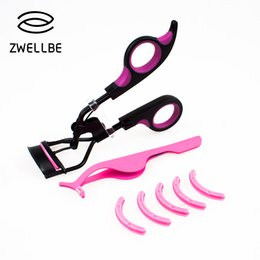 eyelash curling NZ - Professional Handle Curl Eyelash Curler Eyelash Cosmetic Makeup Eyelash Curler Curling Lashes Tools Set