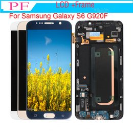 $enCountryForm.capitalKeyWord Australia - 1pc 100% Original 5.1inch Super AMOLED Display lcd for S6 Samsung Galaxy with FrameAssembly Digitizer lcd for Samsung LCD g920f g920 g920a