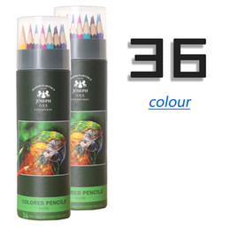 $enCountryForm.capitalKeyWord Australia - Best selling explosion 36 color pencil wholesale oily paper tube packaging quality green wooden cartoon painted pencil graffiti
