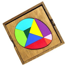 geometry puzzle UK - Wooden Children Early Educational Geometry Egg Shape Jigsaw Puzzle Kids Toys