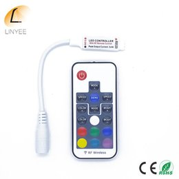 wireless rf mini dimmer controller Canada - Led Rgb Controller Dc5v -24v 12a 17key Mini Rf Wireless Remote Dimmer For 5050 3528 Rgb Flexible Strip Ligh