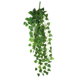 $enCountryForm.capitalKeyWord UK - Multi Usage Ivy Leaf Garland Silk Cloth Foliage Artificial Plants Hanging Vine For Home Kitchen Garden Office Wedding Wall Decor