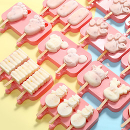 Silicone Snowman mould online shopping - 200PCS Silicone Ice Cream Mold Makers Red Silica Gel Mould Baby Dog Small Feet Homemade Popsicle Sticks Tools Snowman Torch Shape