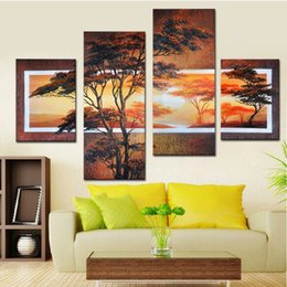 4 piece canvas art online shopping - Modern Exquisite Decorative Pictures for Wall Hand Painted Oil Paintings Art and Craft for Bedroom Decor Marvelous Pieces Set