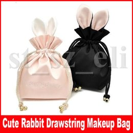 drawstring cosmetic bag Australia - Cartoon Rabbit drawstring organizer Bags Small Craft Gift Storage Makeup Cosmetic bags DIY Travel Party Kids Pouches