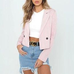 $enCountryForm.capitalKeyWord NZ - Fashion Mini Blazers Womens Suit Autumn Coat Winter Office Ladies Slim Coat Pull Outwear Female Plaid Jacket #408680