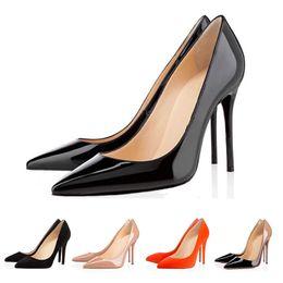 $enCountryForm.capitalKeyWord Australia - 2019 Dress shoes for women fashion red bottom heels with 8cm 10cm 12cm Triple black yellow pinks leather designers pumps