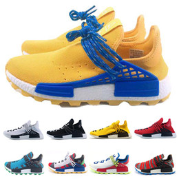 a74bdeaaf6876 2019 Human Race HU X Running Shoes For Men Women Pharrell Williams Designer  Triple Yellow Sample Core Black White Sports Sneakers 36-47