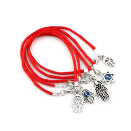 red string bracelet good luck Australia - Hot Items 100Pcs Mixed Kabbalah Hand Charms Red String Good Luck Bracelets Men and women lucky bracelet