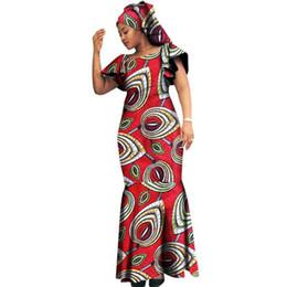 10d1599aac4 2018 новые женские африканские платья Fashion Design Dashiki Bodycon  бандажное платье плюс размер 6XL Хлопковый клуб макси платье